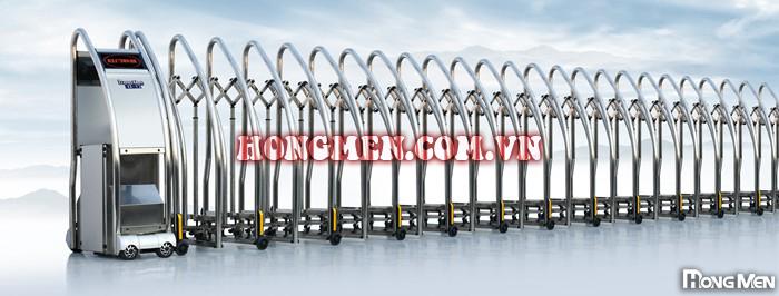 cổng xếp inox Sqmgs