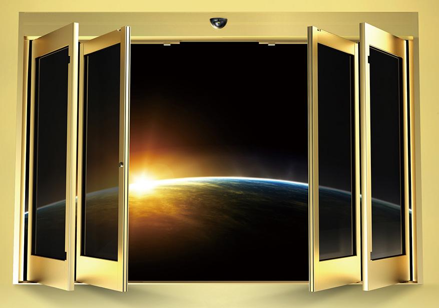 Cửa kính tự động khẩn cấp CK3000 - Vàng