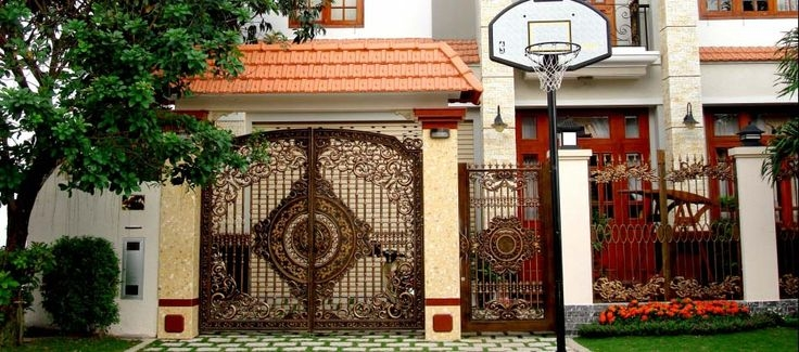 Chiêm ngưỡng những mẫu cổng biệt thự nhôm đúc đẹp