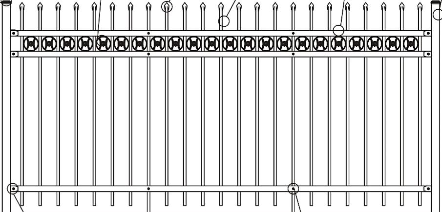 Hàng Rào Sắt Mạ Kẽm XG-ZL-B