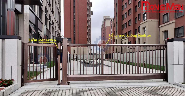 cổng treo trượt tự động