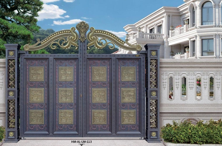cổng biệt thự nhôm
