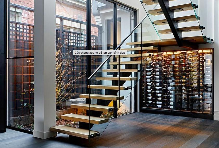 Ý tưởng thiết kế tay vịn cầu thang sang xịn