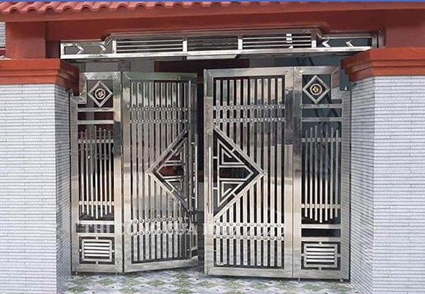 Các mẫu cửa cổng inox đẹp được ưa chuộng