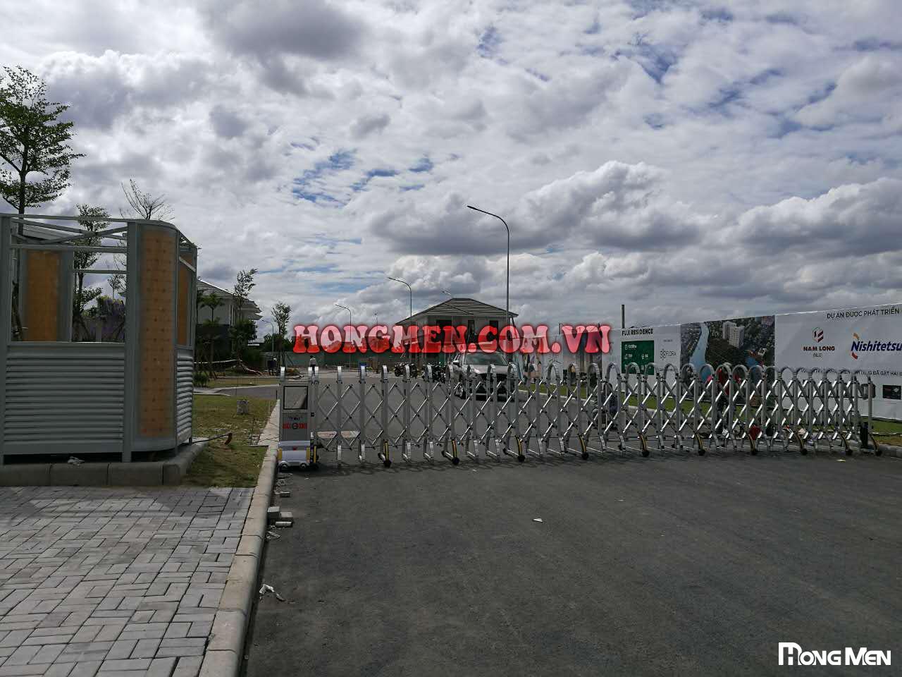 Lắp Đặt Cổng Xếp Tự Động Khu Biệt Thự Fuji Residence Quận 9