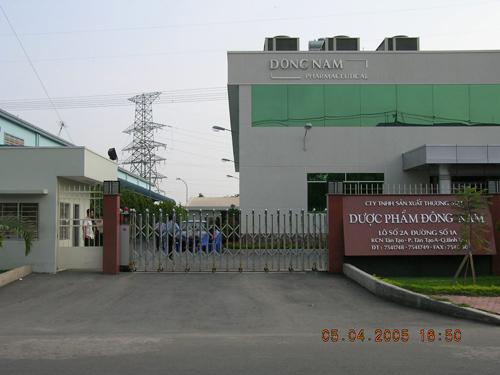 Lắp Đặt Cổng Xếp Tự Động Tại Dược Phẩm Đông Nam