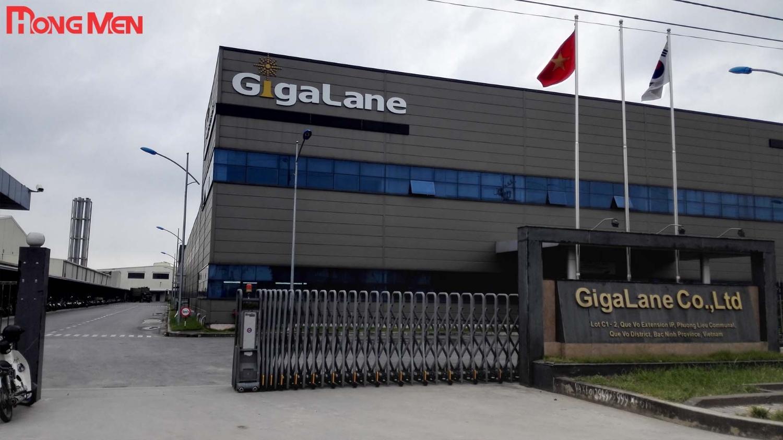 Lắp đặt cổng xếp tự động tại GigaLanne Co.,Ltd