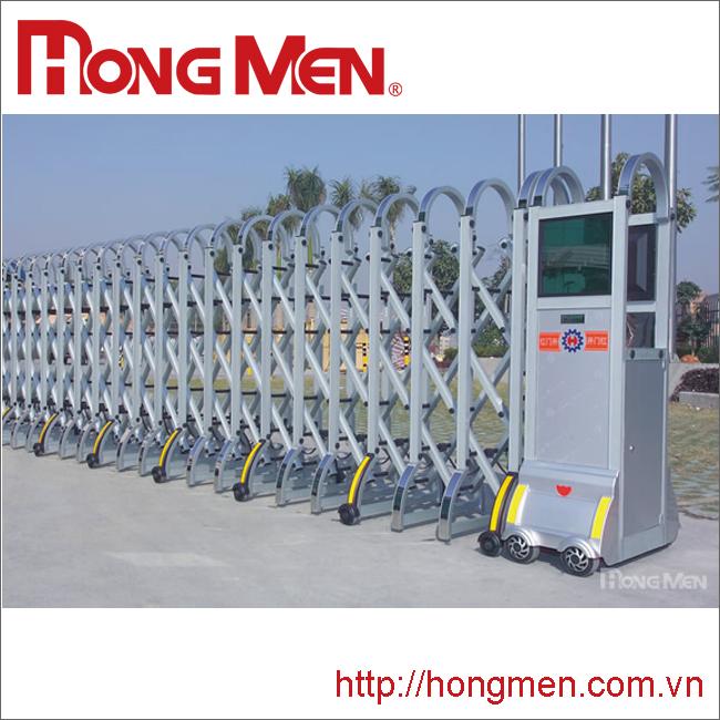 Cổng rào xếp tự động hợp kim nhôm S608B-Y