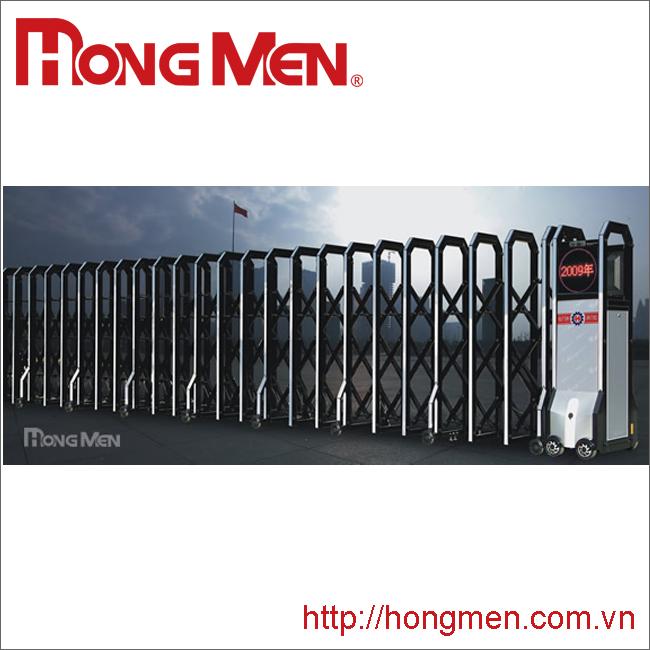 Cổng xếp hợp kim nhôm Hong Men S690S-H