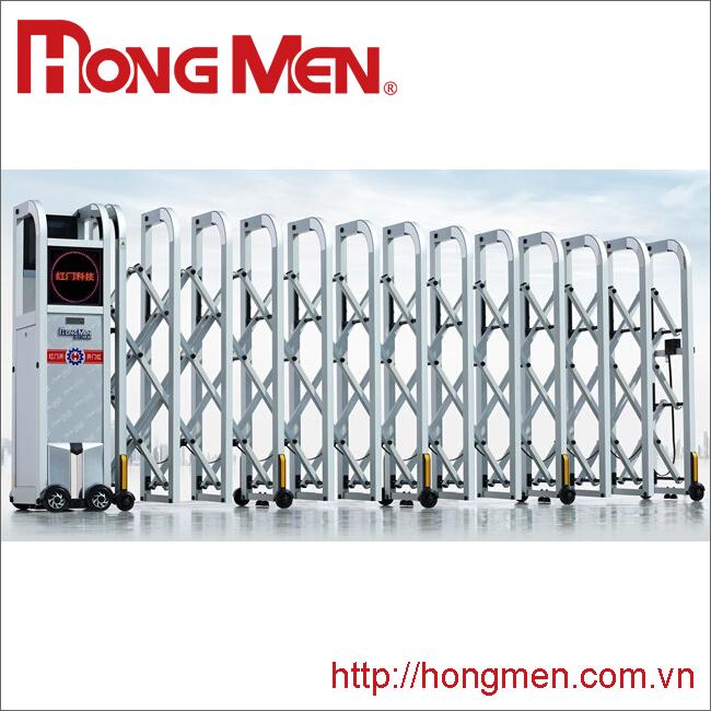 Cổng xếp hợp kim nhôm Hồng Môn P670-Y