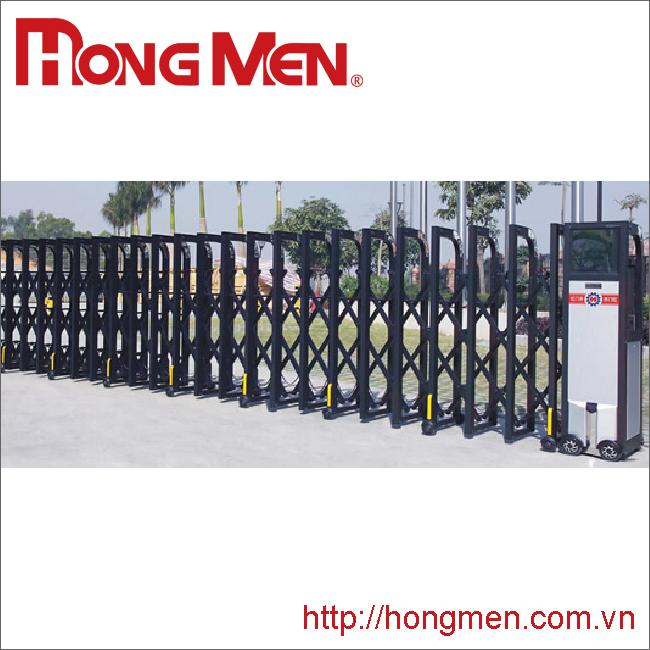 Cổng xếp hợp kim nhôm tự động P670-H