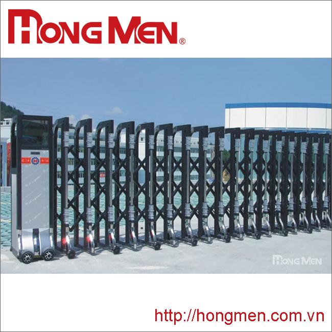 Cửa cổng xếp hợp kim nhôm H670B-H