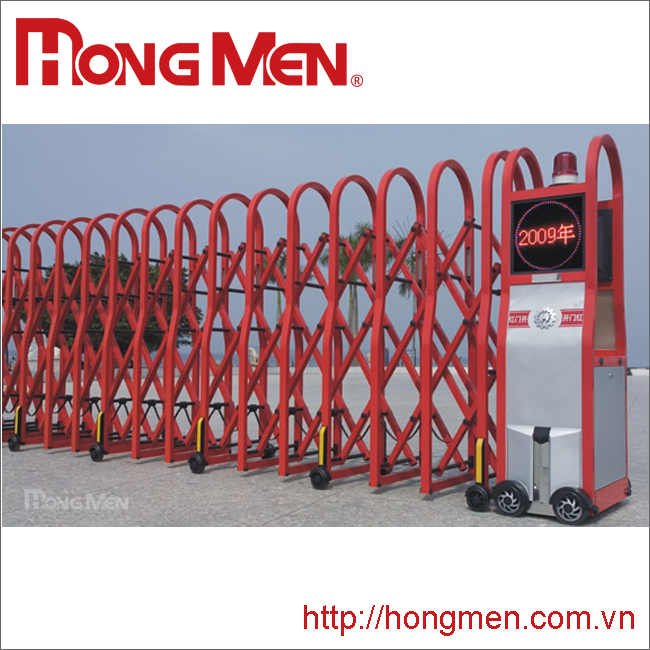 Cửa cổng xếp hợp kim nhôm Khúc Mỹ SQM-R