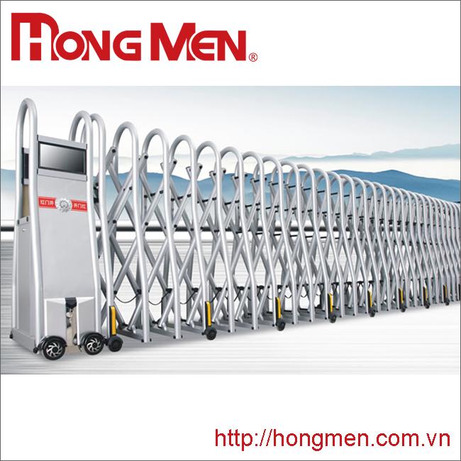 Cửa cổng xếp hợp kim nhôm SQMC-Y