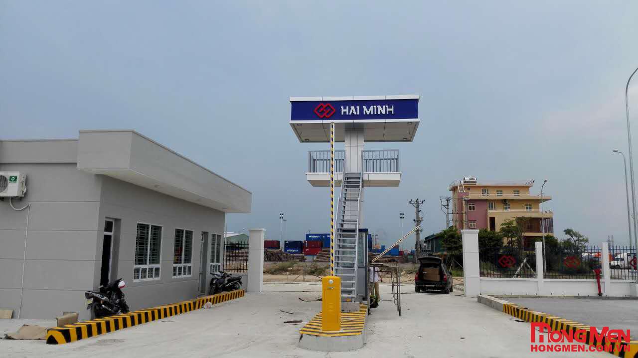 Lắp đặt barrier tự động tại Cảng Đình Vũ - Công Ty Hải Minh