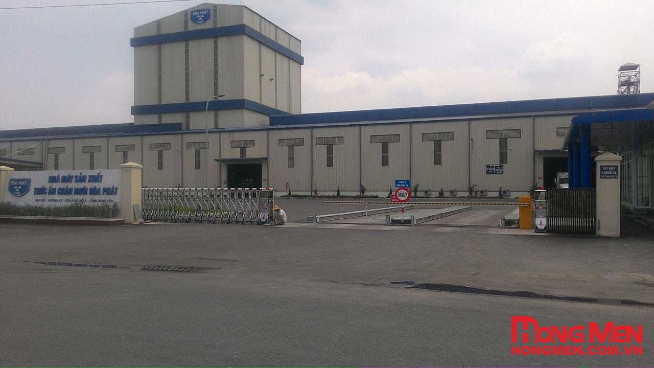 Lắp đặt cổng xếp tự động, barrier tại Nhà máy Hòa Phát Hưng Yên