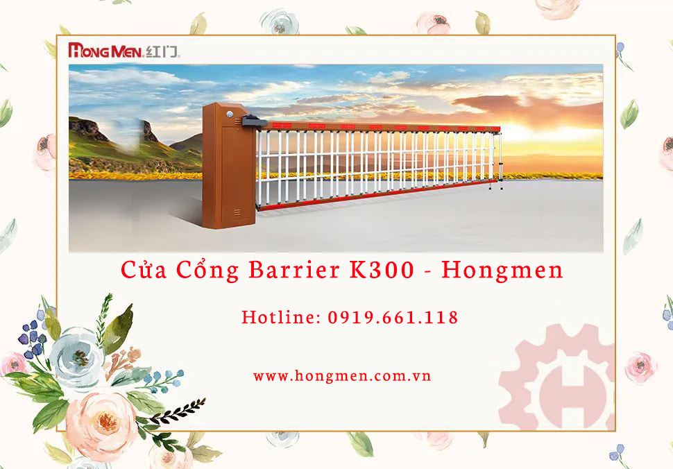 cua cong barrier k300 hong men