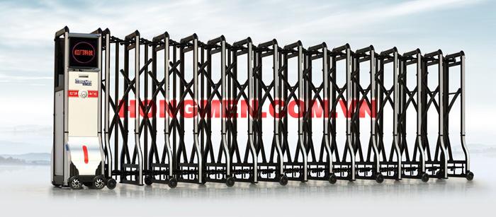 Cổng xếp hợp kim nhôm RedDoor A - B0301