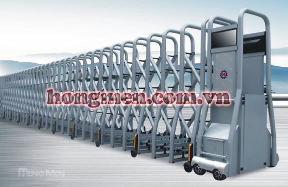 Cổng xếp tự động hợp kim nhôm SQMD-G
