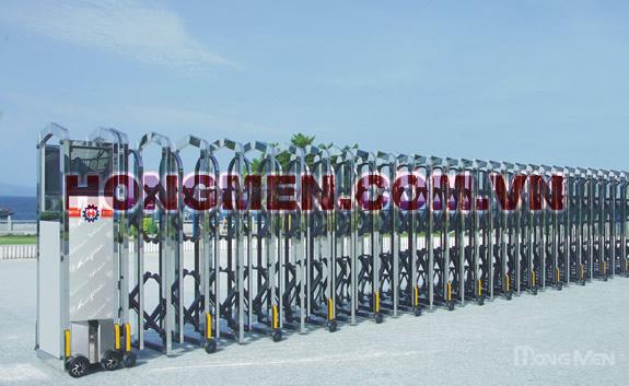 Cổng xếp inox Bạch Kim Cang II