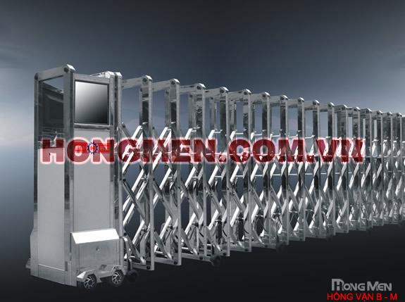 Cổng xếp inox Hồng Vận B-M