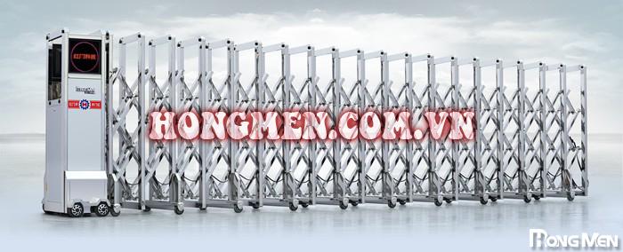 Cổng xếp inox 304 Hồng Vận - M