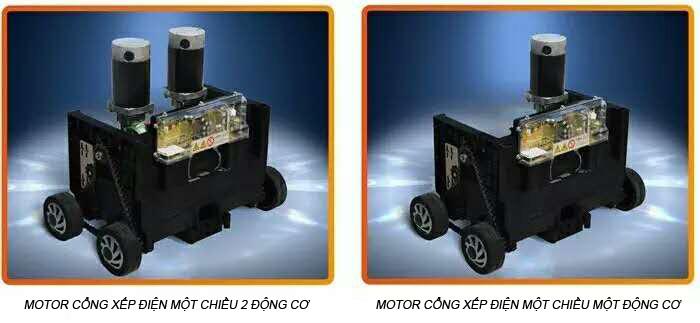 Motor cổng xếp điện một chiều an toàn tuyệt đối