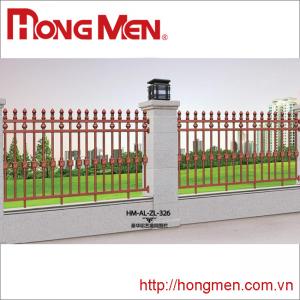 Hàng rào hợp kim nhôm HM-AL-ZL-326