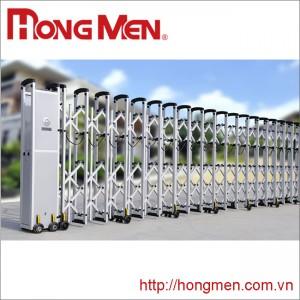 Cổng xếp hợp kim nhôm dân dụng HRG-A31