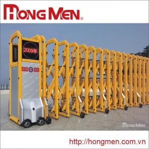 Cổng xếp hợp kim nhôm Hồng Môn S690B-F
