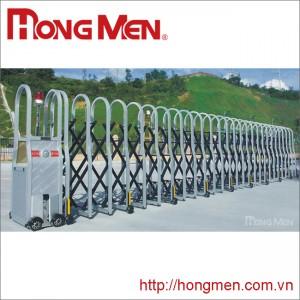 Cửa cổng xếp hợp kim nhôm Khúc Mỹ SQM-YH